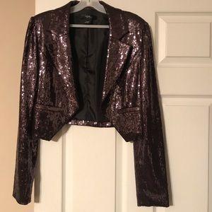 Jackets & Blazers - Purple Sequin Blazer